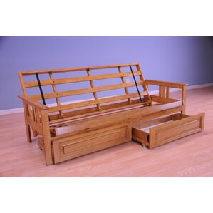 leavittsburg futon frame with drawers - Futon Bed Frames