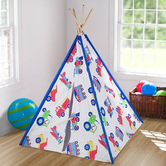 Children Play Tent With Floor Mat Style; In Portable Canvas Indian Teepee With Ventilated Window For Indoor And Outdoor Fashionable 2019 New Style Kids Teepee Tent
