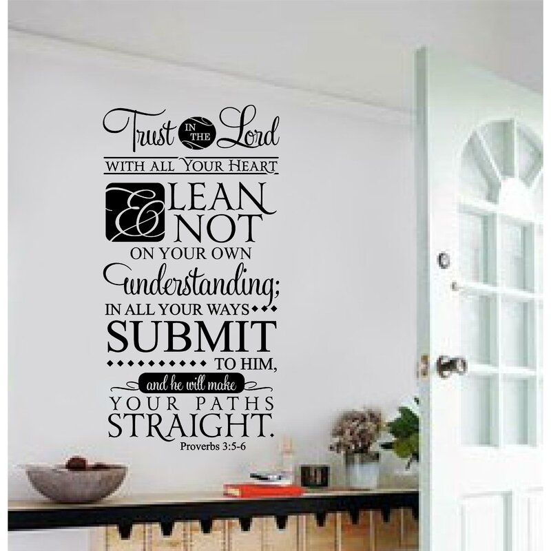 Trust in the lord with all your heart christian bible verse vinyl letter word wall decal
