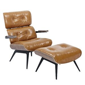 Eama Lounge Chair with Ott..