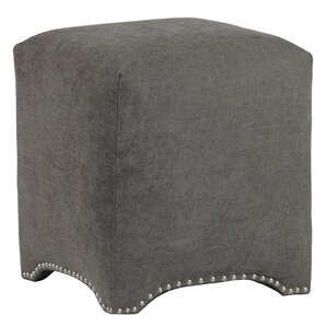 Emma Upholstered Nailhead Cube Ottoman by Leffler Home
