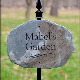 carved stone garden sign - Garden Plaques