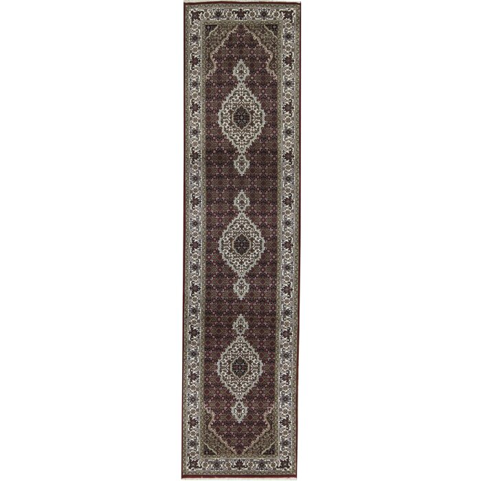 One Of A Kind India Hand Knotted 2 7 X 10 4 Red Black Area Rug