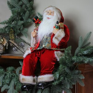 Sitting Santa Claus Christmas Figure