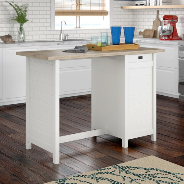 Kitchen Update With Brookhaven Island Desk: Beachcrest Home Hampton Kitchen Island With Lintel Oak Top