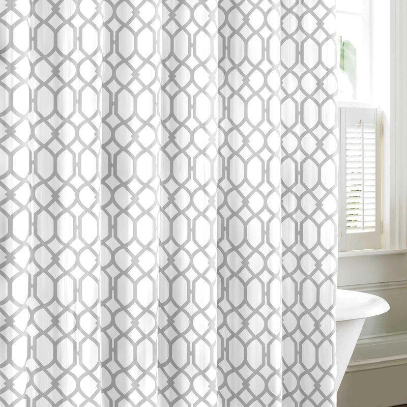 Trellis Drapes Part - 45: Shoreline Trellis Cotton Shower Curtain By Tommy Bahama Bedding