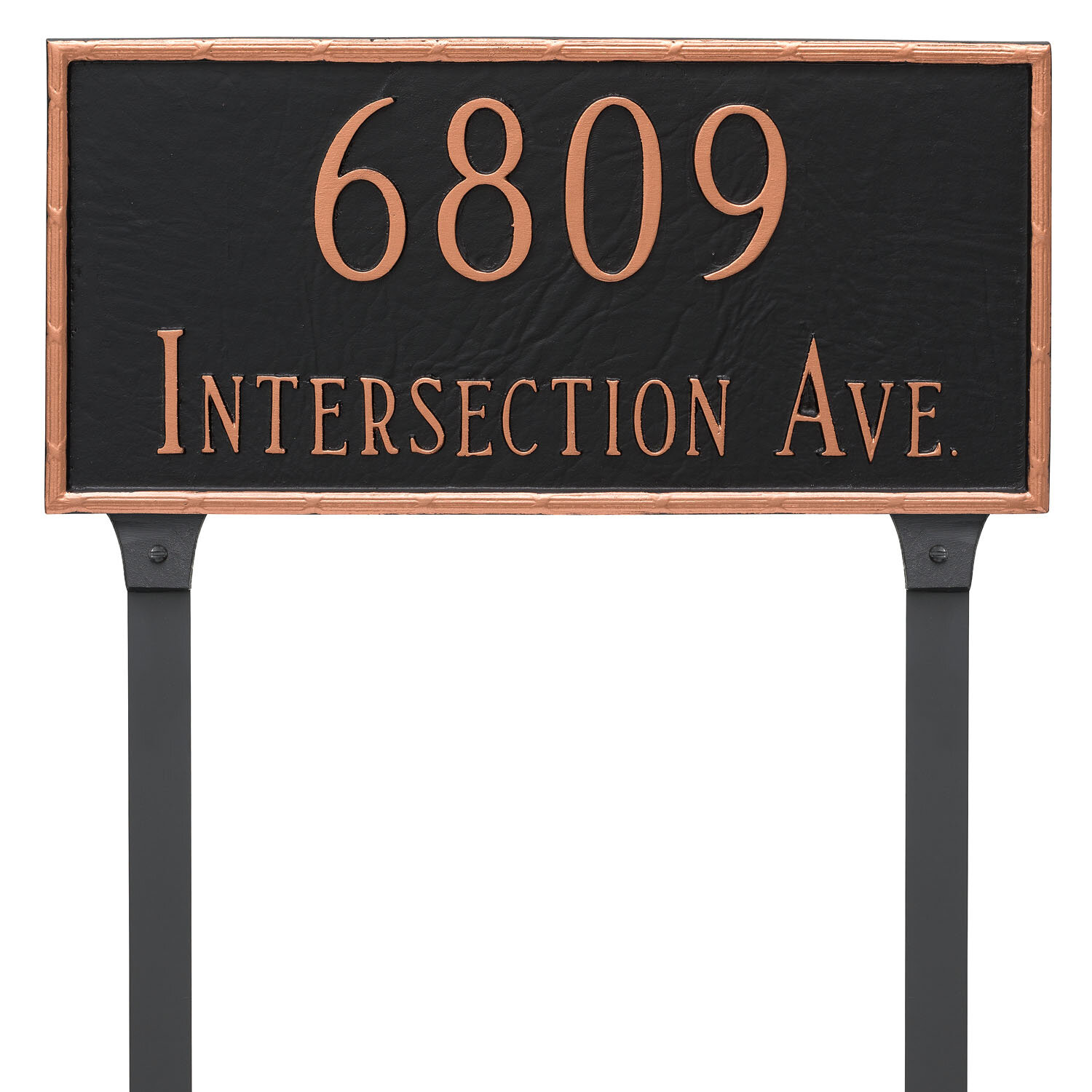 Montague Metal Products 2 Line Lawn Address Sign Amp Reviews