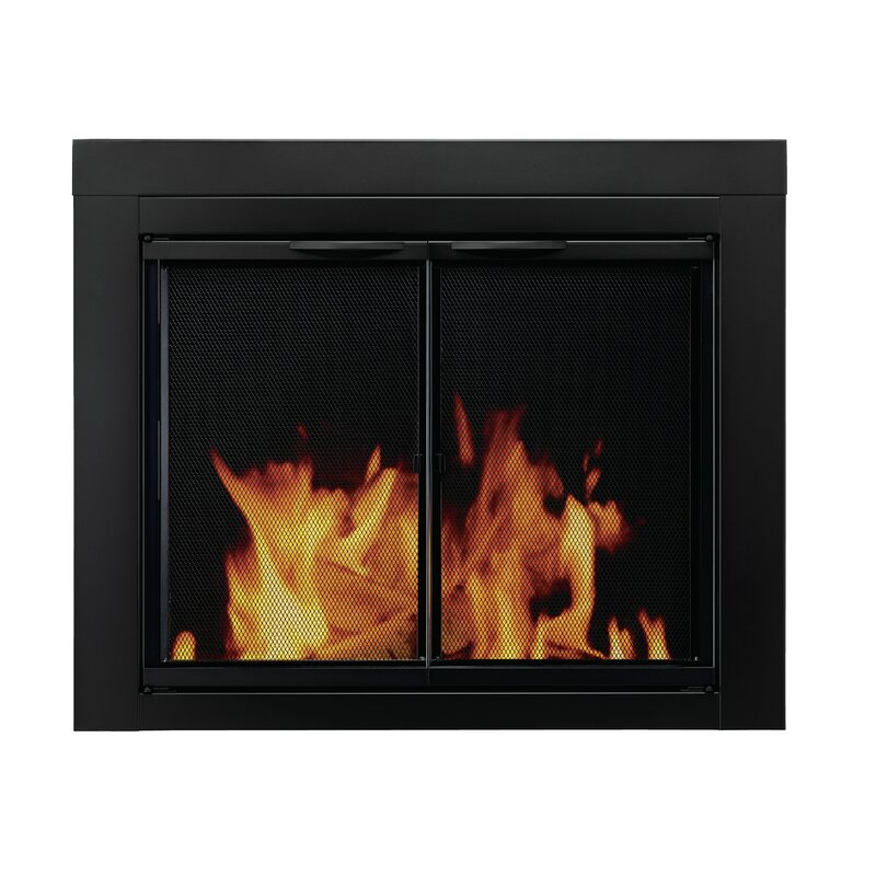 Alpine Cabinet Style Steel Fireplace Doors