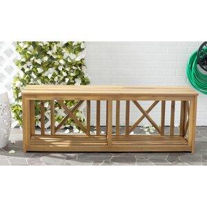 2-Sitzer Aufbewahrungsbank Rowley aus Holz von Safavieh
