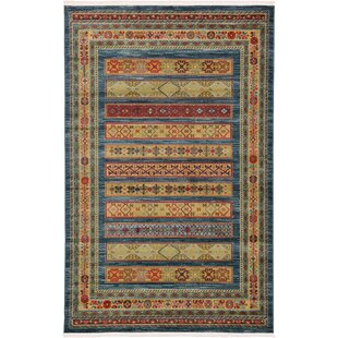 foret noire machine woven blue area rug - Washable Area Rugs