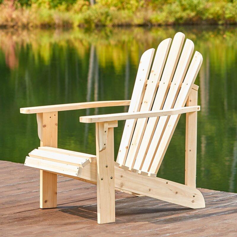 Captivating Burtville Solid Wood Adirondack Chair