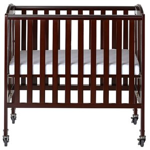 dream on me folding portable crib with mattress