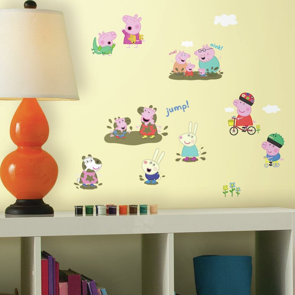 Room Mates Peppa the Pig Peel and Stick Wall Decals & Reviews | Wayfair