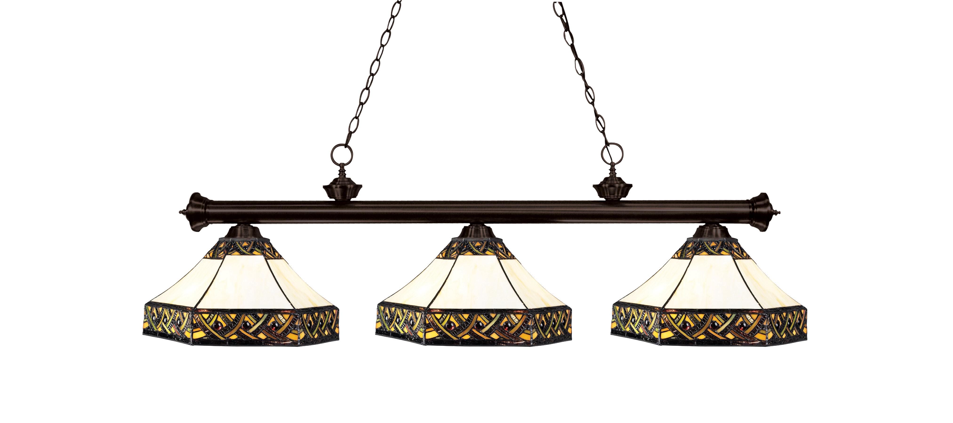 Fleur de lis living billiot bronze 3 light pool table lights pendant wayfair ca