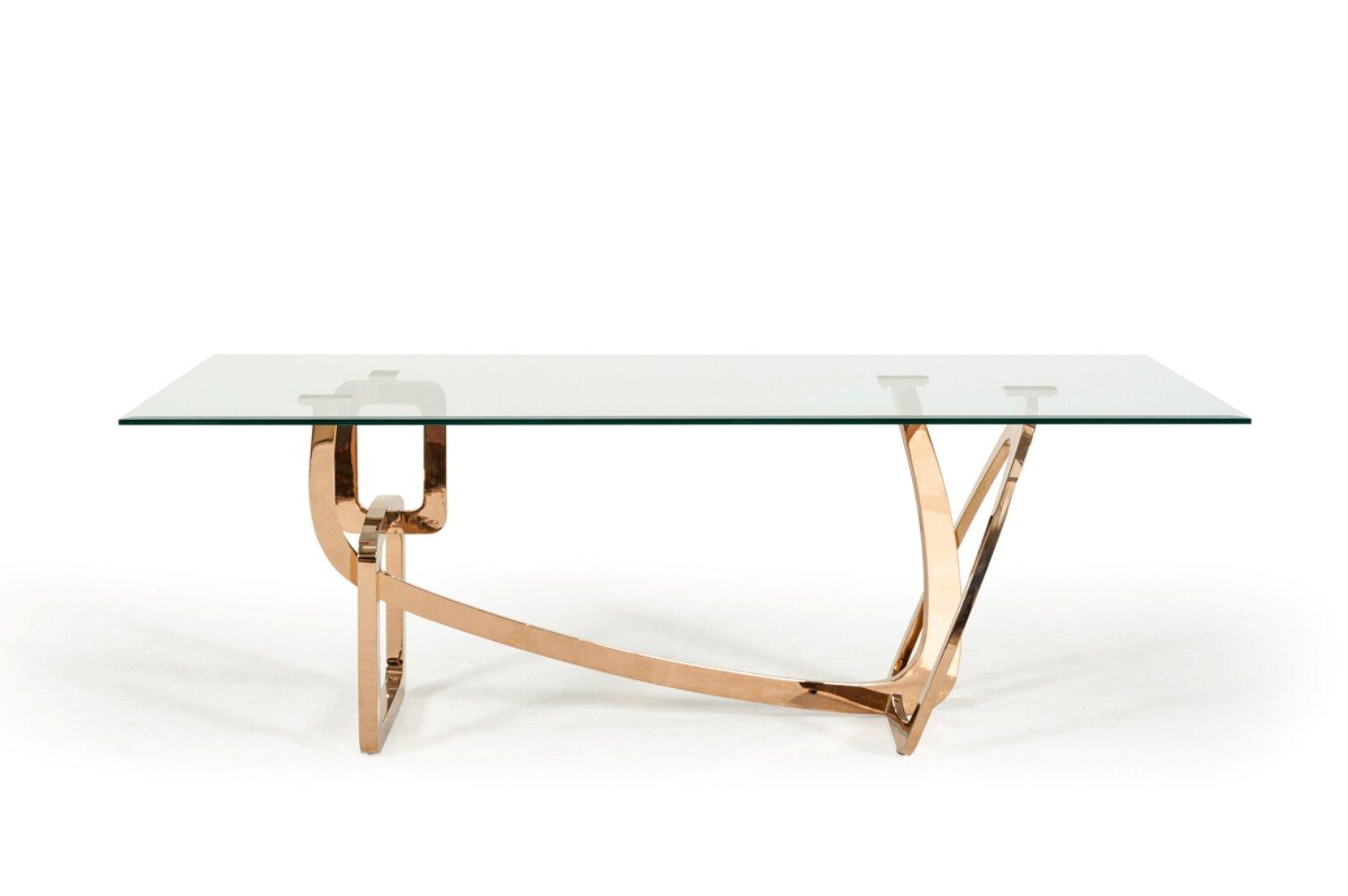 Orren ellis clower glass top dining table wayfair