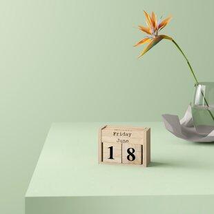 Perpetual Wooden Calendars Wayfair