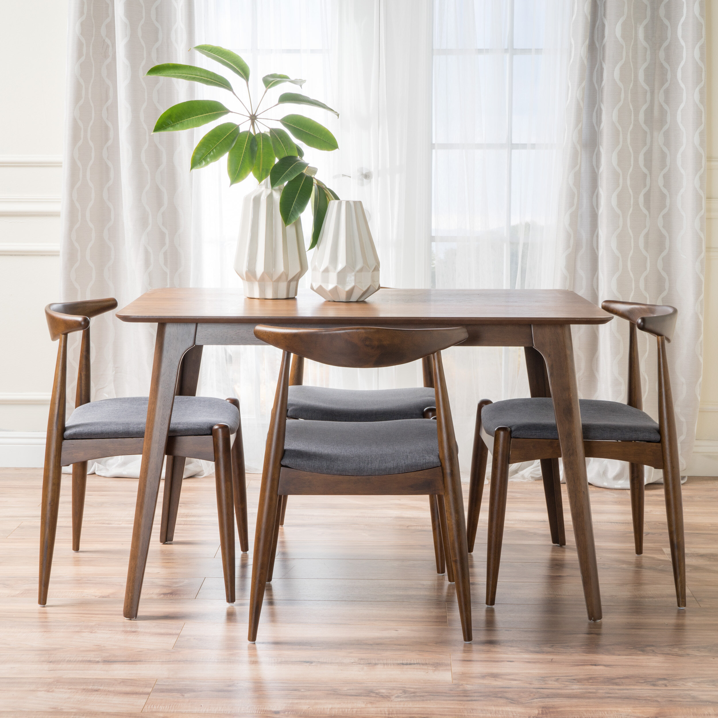 Langley Street Millie 5 Piece Mid Century Dining Set | Wayfair