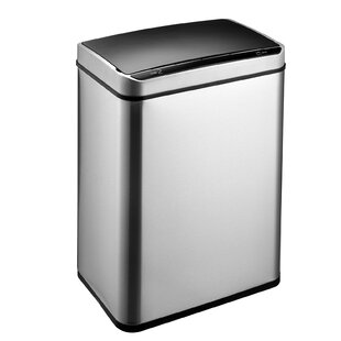 Stainless Steel 50 Litre Motion Sensor Multi Compartment Rubbish And Recycling Bin