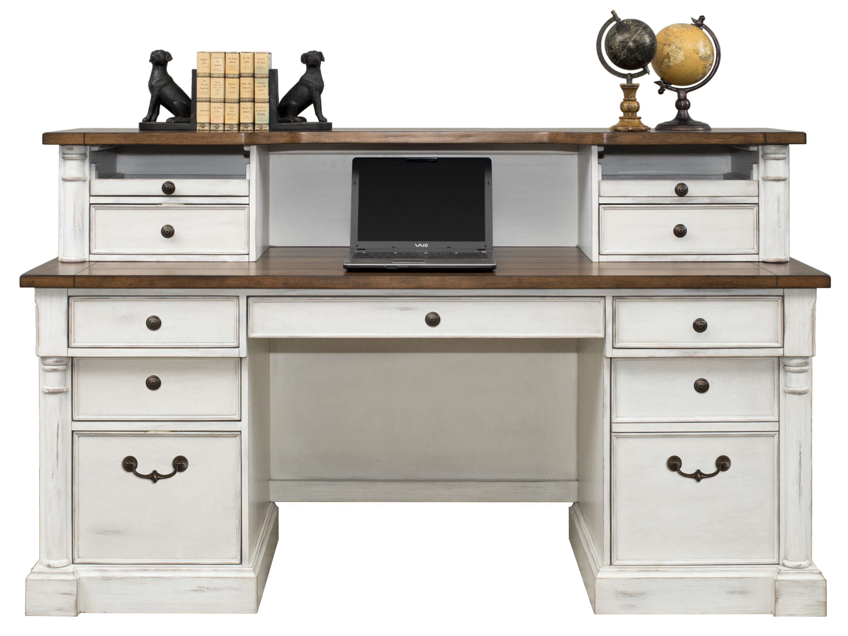 a desk free garden series and corner hutch pedestal drawer with drawers today shipping home overstock product