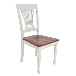 Arrow Slat Back Solid Wood Dining Chair by Rosecliff Heights