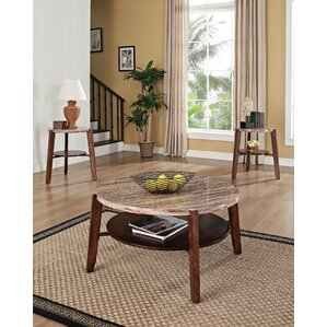 Round Coffee Table Sets You\'ll Love | Wayfair