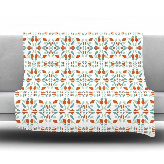 KESS InHouse Italian Kitchen Orange Throw Blanket Wayfair Simple Italian Throw Blanket