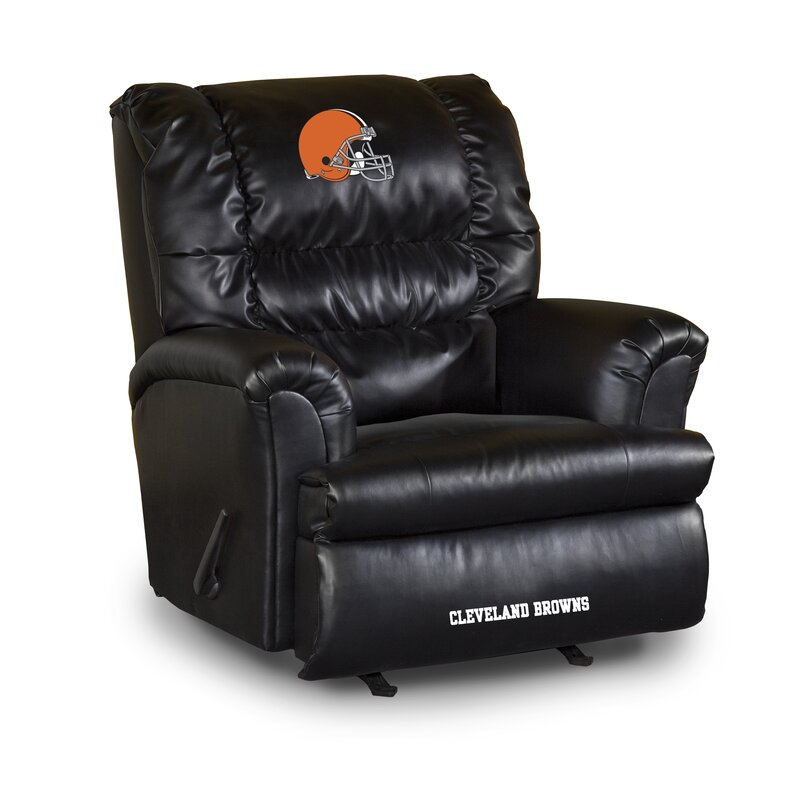 imperial international nfl leather manual recliner