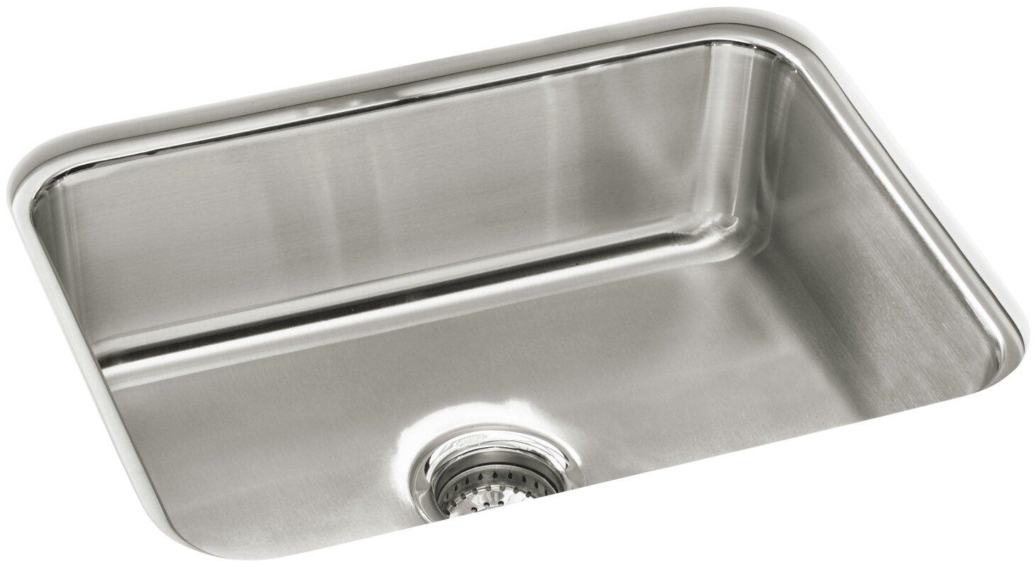 mcallister   23 38   x 17 69   undercounter single basin kitchen sink sterling by kohler mcallister   23 38   x 17 69   undercounter single      rh   wayfair com