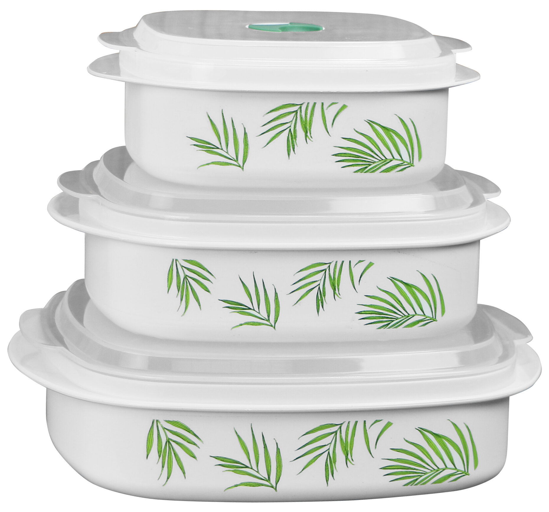 Corelle Bamboo Leaf Microwave Cookware 3 Container Food Storage Set Reviews Wayfair