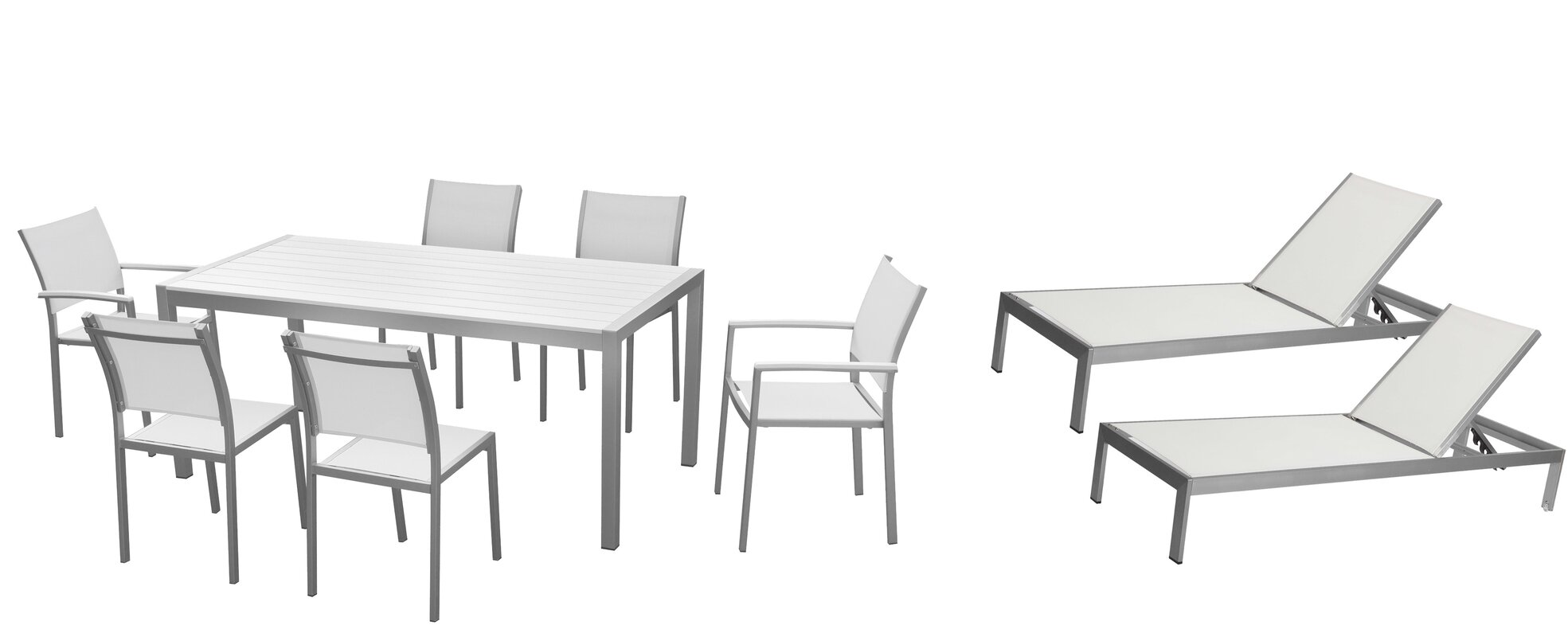 Dorsey 9 Piece Patio Set
