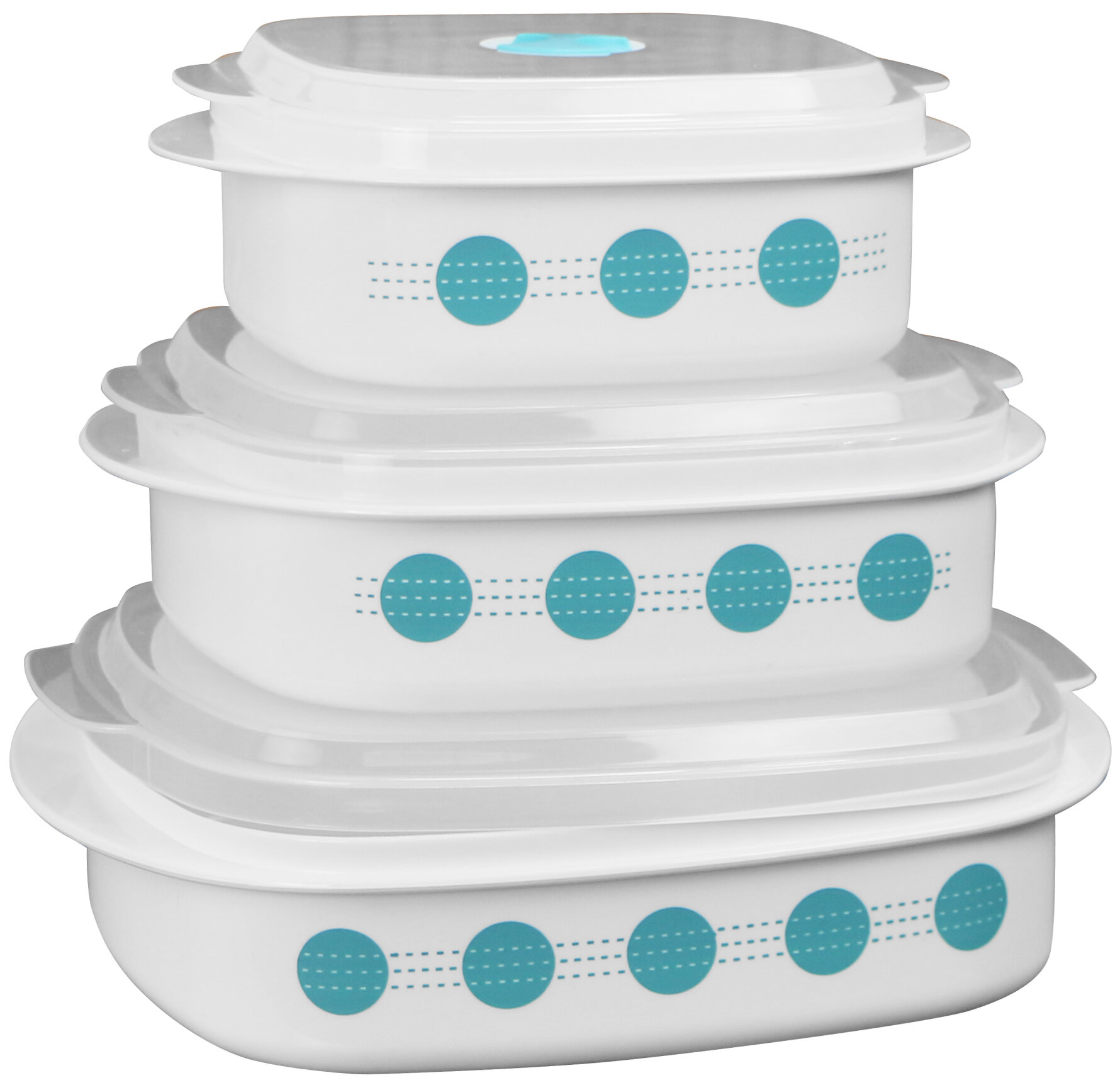 Corelle South Beach Microwave Cookware 3 Container Food Storage Set Reviews Wayfair