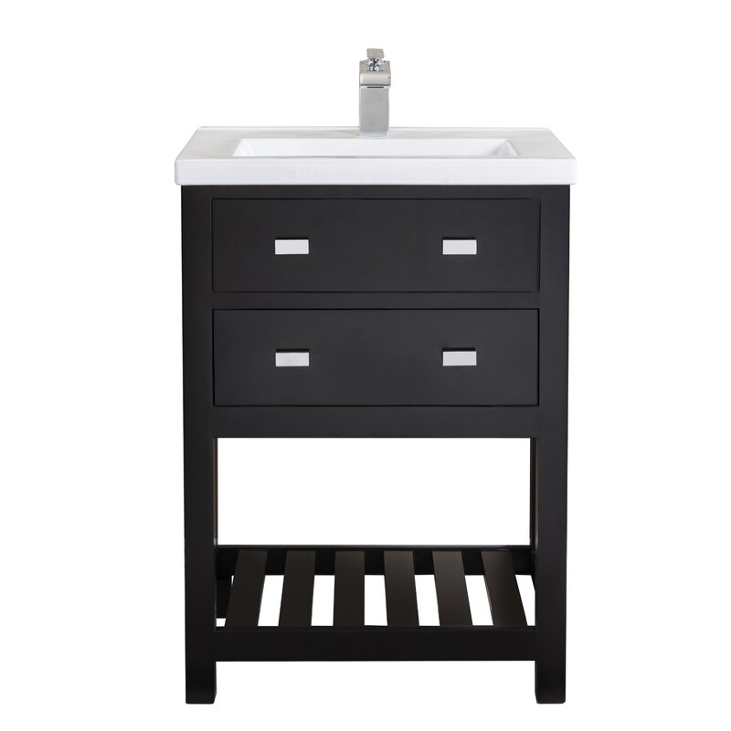 Knighten Modern 24 Quot Single Bathroom Vanity Set Amp Reviews