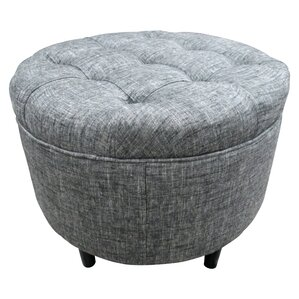 Balboa Button Tufted Ottoman by Sole Designs
