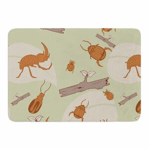 Beetles by Stephanie Vaeth Memory Foam Bath Mat