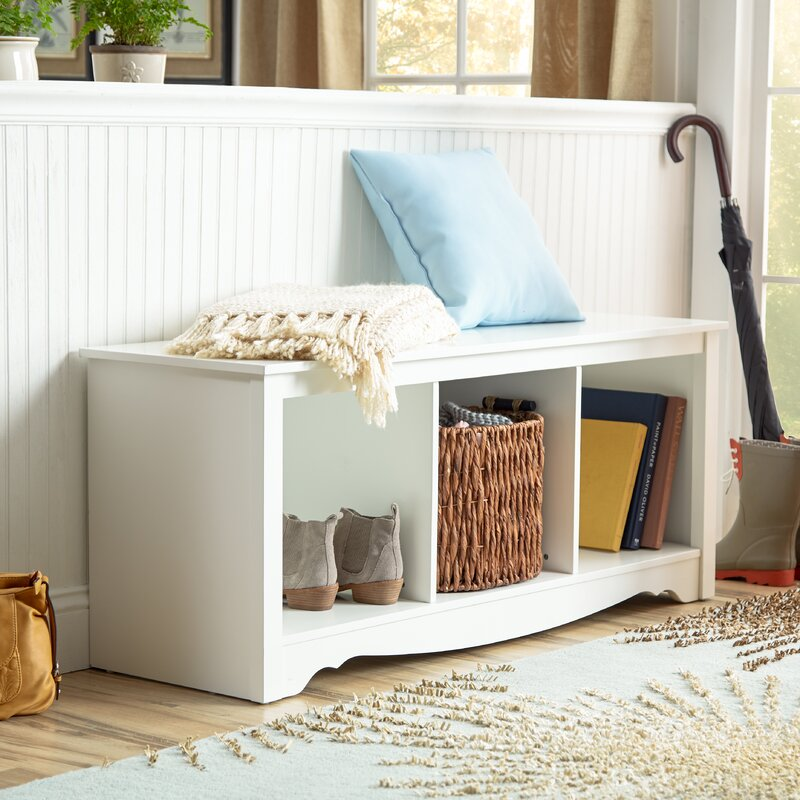 Awesome Minot Wood Storage Bench
