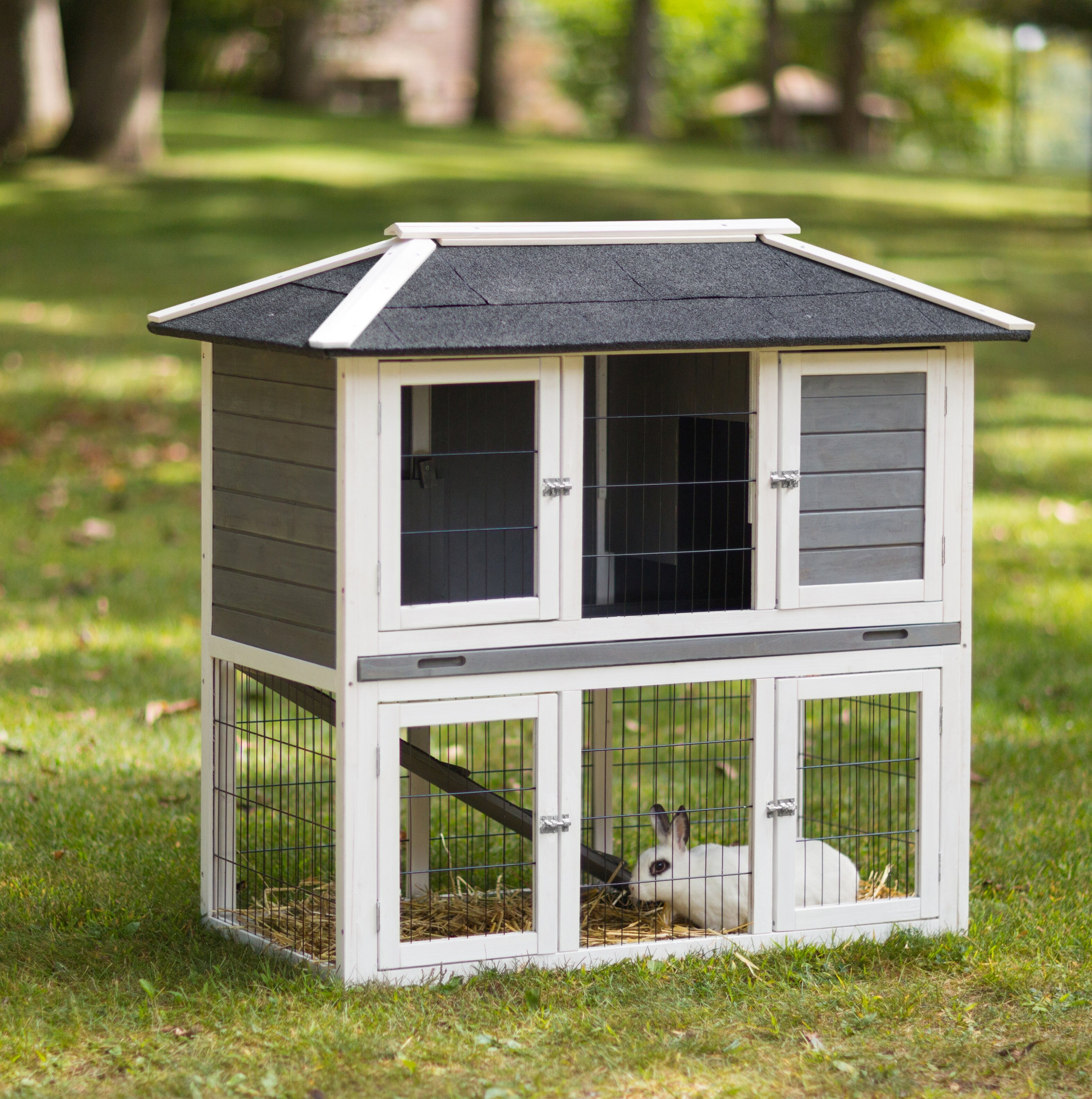 solid trixie free today supplies rabbit overstock in products wood pet shipping pine product hutch