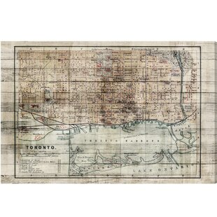 World map wall art canadian city mapsvintage toronto map graphic art on wrapped canvas gumiabroncs Images