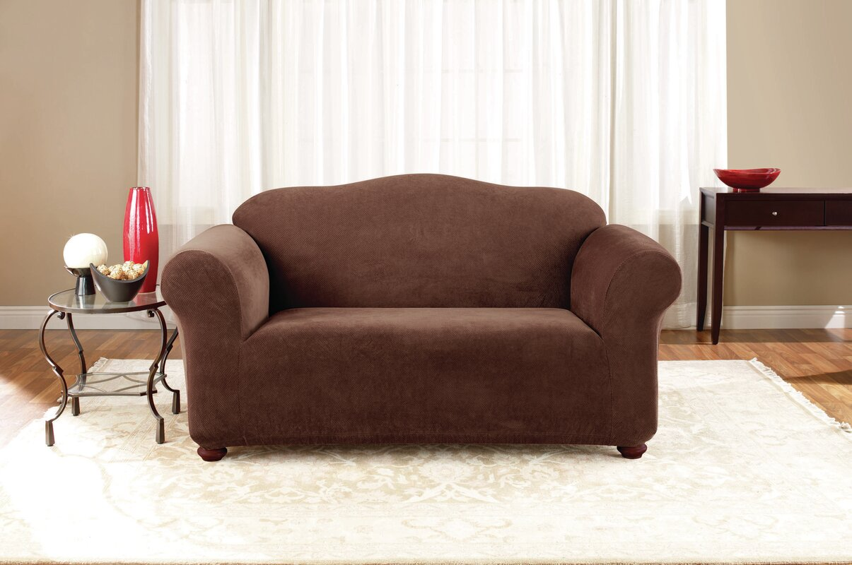 Wayfair Dining Room Chair Covers: Sure Fit Stretch Pique Box Cushion Loveseat Slipcover