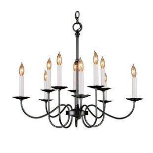Simple iron chandelier wayfair simple lines 10 light chandelier aloadofball Choice Image