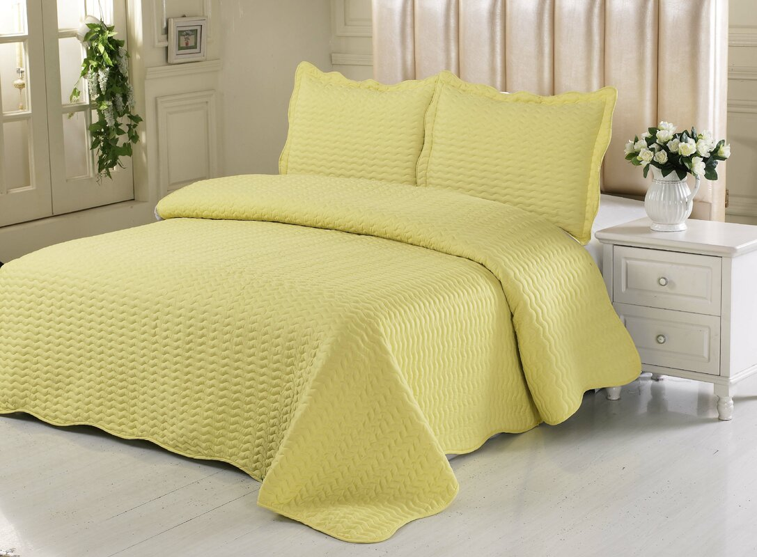 Simple Elegance Embossed Quilt Set