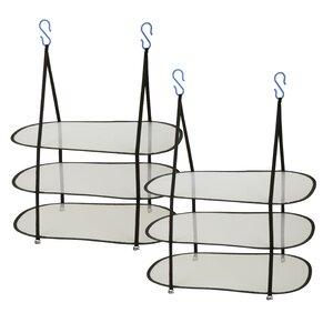 3 Tier Freestanding/Wall Mounted Drying Rack (Set of 2)