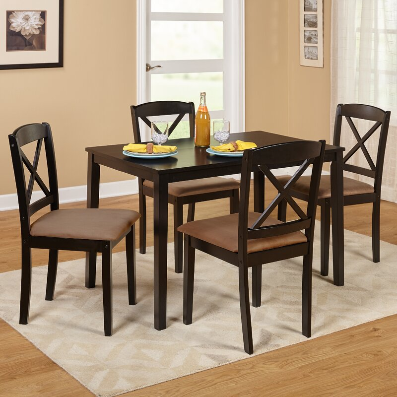 5 Piece Dining Room Sets Amazon Com: August Grove Scarlett 5 Piece Dining Set & Reviews