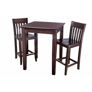 Earnhardt 3 Piece Pub Table Set Bargain