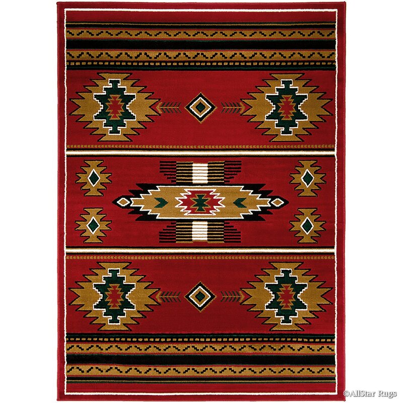 Loon Peak Myron Redblack Area Rug Reviews Wayfair