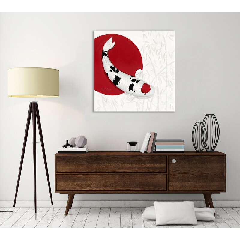 'Bamboo Tancho Sanke' Graphic Art Print on Wrapped Canvas