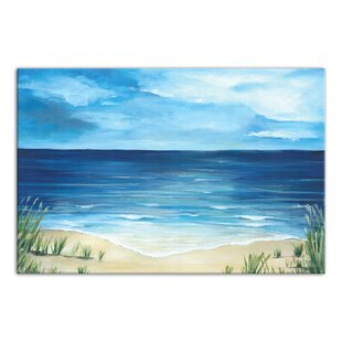 east urban home warm tropical sea and beach oil painting print on