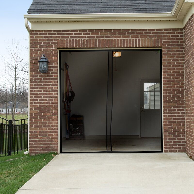 Pure garden 2 piece one car garage screen door reviews for Garage piece auto
