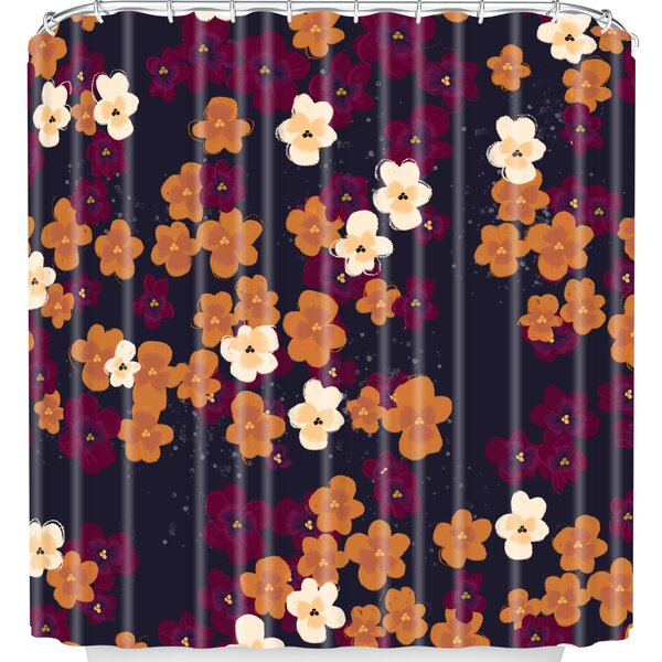 East Urban Home Blooms Of Mini Pansies Shower Curtain