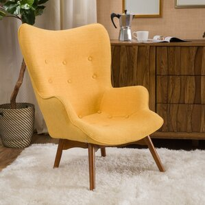 MidCentury Modern Yellow Accent Chairs Youll Love Wayfair