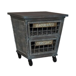 Vinalhaven Rattan Kitchen Island by One A..